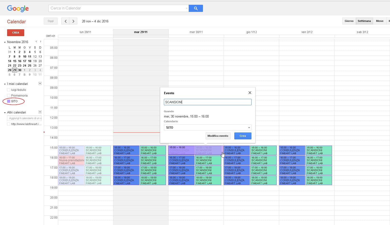Calendario Per Sito Web.Guida Fine Art Lab